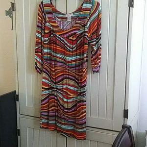 Mult colored dress
